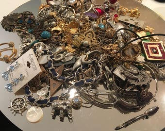 Lot of Jewelry ~ Vintage to Newer ~ Mini Treasure Chest