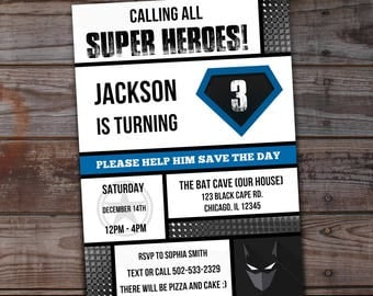 superhero invitation, super hero party, superhero birthday invitation, super hero birthday party, printable birthday invitation