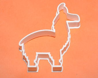 cartoon LLama/Alpaca shaped Cookie/Pastry/Icing Cutter - Food safe 3D printed - UK Made - Spring offer - buy any 2 cutters get one free