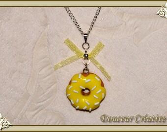 Lemon donut 103010 necklace