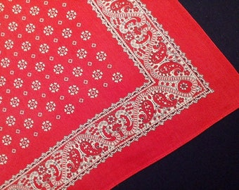Vintage Swiss Cotton Bandana or Paisley Handkerchief