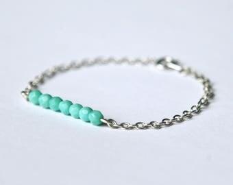 Delicate turquoise bracelet  |  Dainty bracelet  | Turquoise bracelet  |  Summer bracelet  |  Gift for her  |  Bridesmaid gift