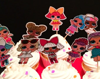 LOL Surprise Doll Inspired Cupcake Toppers