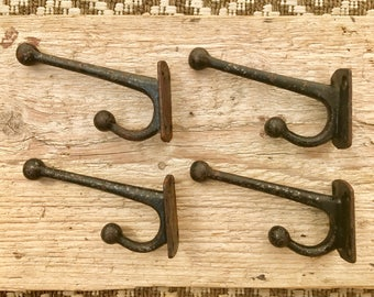 Set of 4 Vintage Victorian Coat Hooks #202