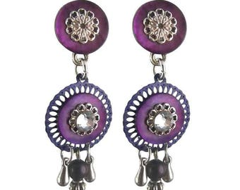 Earring Smarty purple clip