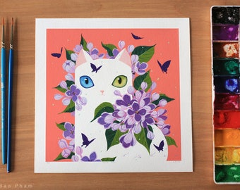 Lilac Cat - Limited Edition Print