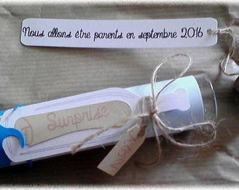 original pregnancy announcement tube