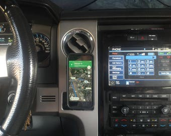 Magnetic Cell phone mount- Ford Trucks - F150, F250, F350, Perfectly Integrated into dash