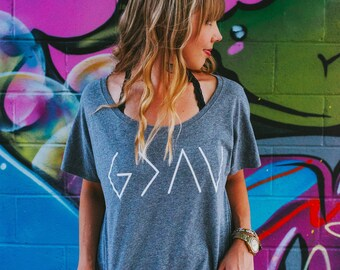 God is Greater Than The Highs and Lows, God is Greater Than The Ups and Downs, God is Greater Tee, God is Greater Dolman