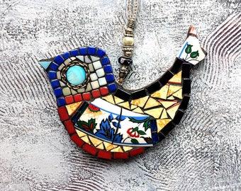 Mosaic bird, Cute bird, Birdie, little