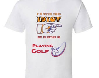 I'd Rather Be Playing Golf Funny Golf T-shirt,golf tees,golf gifts,cool golfing gear,golf lovers clothing