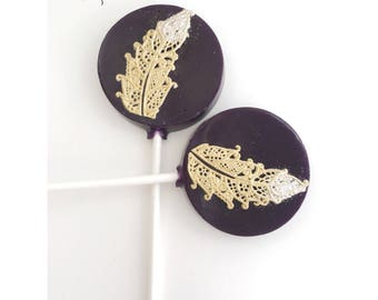 Black and Gold Wedding Favor Lollipop - Black and Gold wedding - Black Wedding - Gold Wedding - Black and Gold lollipop - Wedding Lollipop -