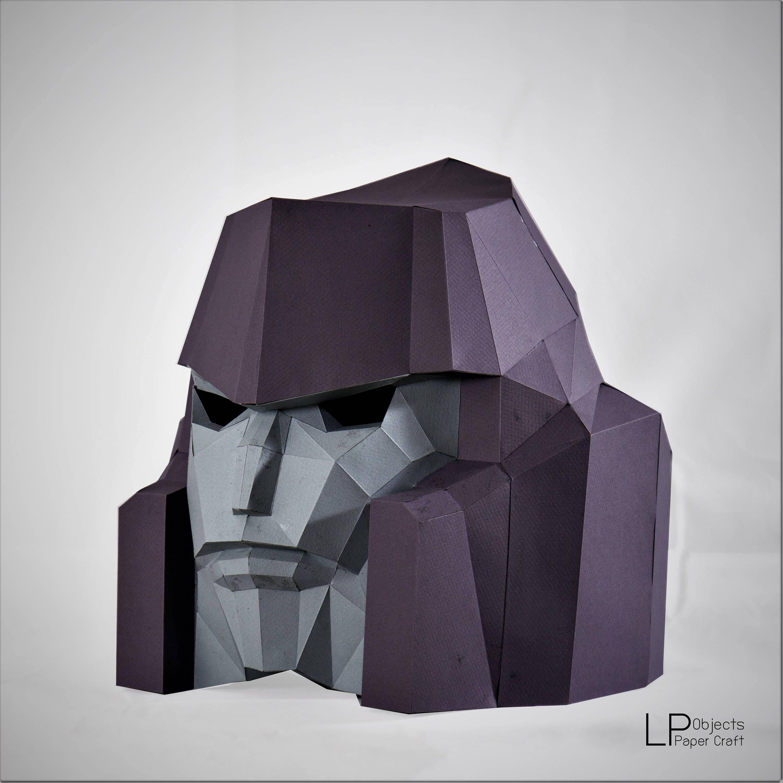 Megatron Mask, Transformers Mask , papercraft,DIY New Year Mask ...
