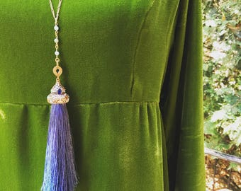 opera length large tassel necklace