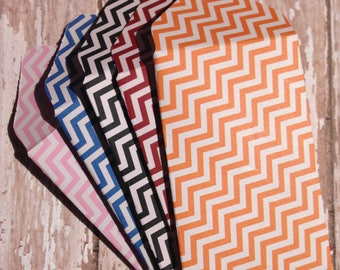 Chevron Patterned Gift Card Envelopes/Zigzag Money Holders/Small Envelopes/Business Card Holders/Colorful Gift Card Holders/Set of 5