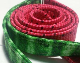 Watermelon leash, dog leash, fruit leash, green leash, pink leash