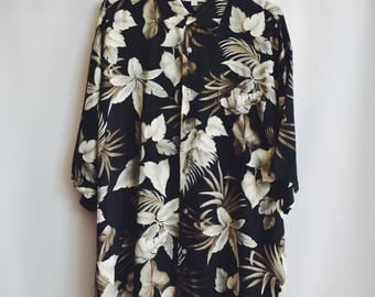 Shirt Vintage Hawaiian flowers