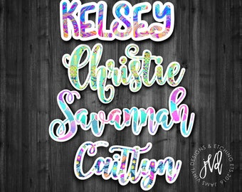 Name Decal| Name with Shadow| Tumbler Decal| Water Bottle Decal| Car Window Decal