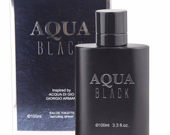 Aqua Black Perfume Eau de Toilette Parfum Man's Fragrance Spray 3.3OZ like ACQUA