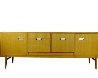 "83"" Danish Mid Century Modern  Teak Credenza Sideboard Media Stand PICK UP ONLY"