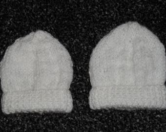 Pair of Premature Baby hats