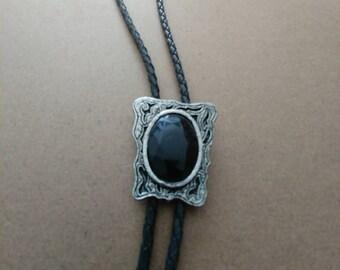 Vintage Black Beauty Bolo
