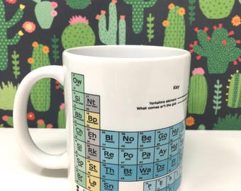Yorkshire Dialect periodic table chemistry Funny Chunky Mug