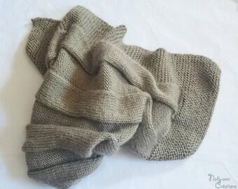 Wool blanket baby alpaca and silk