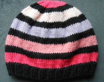 striped knit for girls 6 months Hat