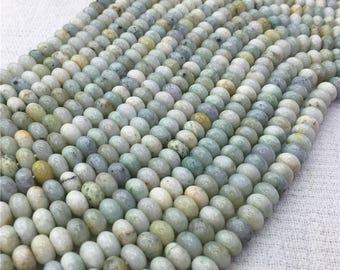 1Full Strand 5mm*8mm Aquamarine Rondelle Beads,  Aquamarine Gemstone For Jewelry Making