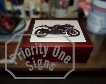 Personalized Photo Humidor, Custom, humidor, cigar, cigar lover, cigar storage, cigar box, photo gift, personalized, unique cigar gift