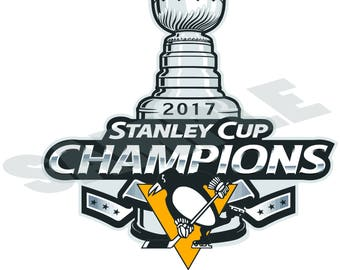Pittsburgh Penguins 2017 Stanley Cup Champions  NHL Decal/Sticker