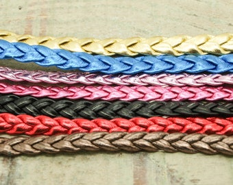 X 7 mother of Pearl braided leather cord