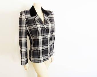 Vintage Blazer, UK8, Checked Jacket, Vintage Clothing, Tartan Jacket, Clueless, Clothes, Jackets, Work Jacket, Vintage Women's Clothing