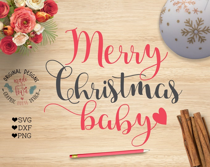 Christmas svg, Merry Christmas baby svg, Merry Christmas decal design available in SVG, DXF and PNG, Merry Christmas cut file, Cricut, Cameo