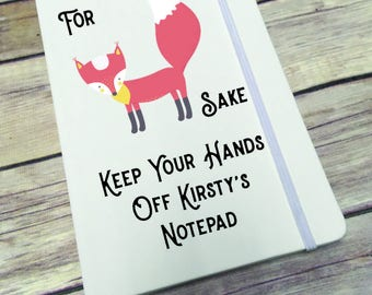 Personalised Lined Notepad- Gift - Present - Fox Sake DD283
