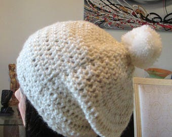 white wool hat for women