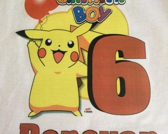 Pokemon birthday boy shirt