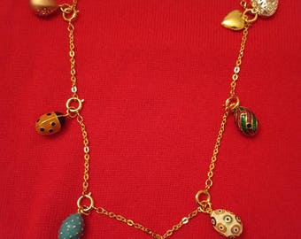 JOAN RIVERS Enamel and Crystal Egg Charm Necklace