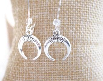 """Earrings """"Horn of silver Moon"""""""