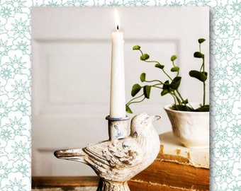 Singing Bird Taper Candle Holders // Candle Holder // Candle // Vintage // Vintage Kitchen // Shabby Chic