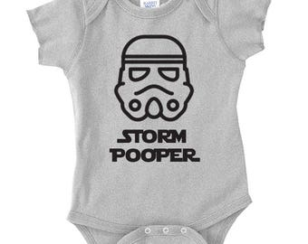 Star Wars Baby clothes - Star Wars - Future Jedi - Storm Pooper - R2 Doo Doo - Baby Clothes - Funny Star Wars onesies