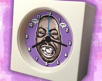 """King of the Wackpack! """"BEETLEJUICE"""" Mini-Travel Alarm Clock - Who? Me? - FREE Battery Included!"""