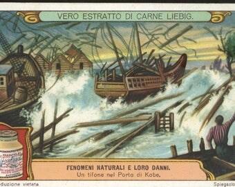 Liebig Victorian trade card storm destructions