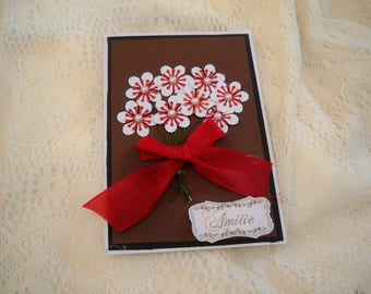 card with a bouquet of flowers