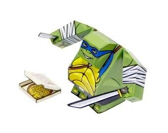 Leonardo from Ninja Turtles (TMNT) - Paper Toy Leonardo - DIY Paper Craft Kit - 3D Paper Figure Leonardo from Teenage Mutant Ninja Turtle