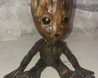 Baby Groot Resin Statue