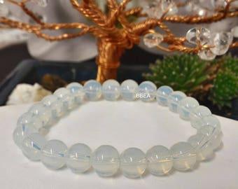 Opalite beads 8 mm simple bracelet