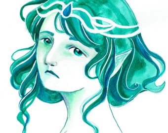 Art Print - Green Elf