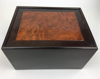 Beautiful Antique Wooden Box with a Sliding Lid, 1900s